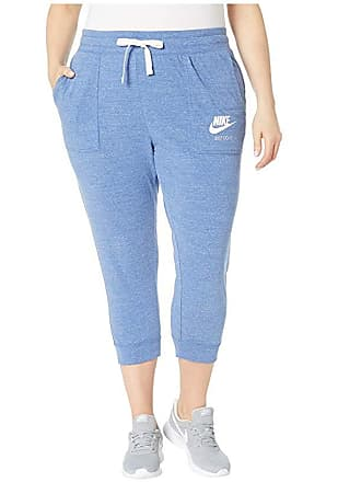 8403b7cb38203 Nike Plus Size Gym Vintage Extended Capris (Indigo Storm/Sail) Womens  Casual Pants