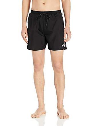 ff0e03d76 HUGO BOSS BOSS Mens Medium Length Quick Dry Swim Trunks, Black, XXL