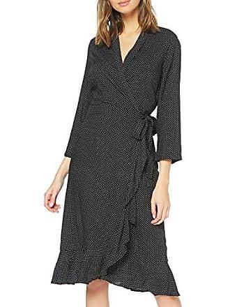 60b683035ba9 Pieces Pcsany Wrap Midi Dress Vestito, Multicolore AOP: Black W Bright  White col Dots