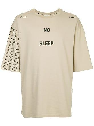 Ex Infinitas No Sleep checked sleeve T-shirt - Marrom