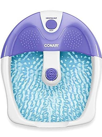 Conair Foot Spa/Pedicure Spa with Soothing Vibration Massage, Purple/White