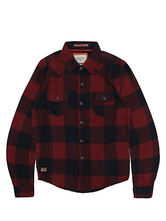 Gangster Camisa Gangster Menino Xadrez Vermelha