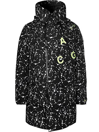 best service 06807 37d79 Nike Acg Oversized Quilted Printed Ripstop Hooded Down Parka - Black