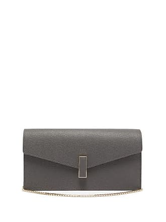 Valextra Iside Grained Leather Clutch - Womens - Grey