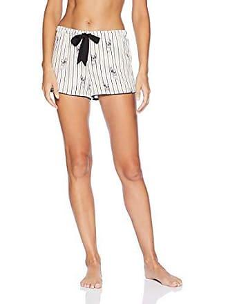 PJ Salvage Womens Stripe Print Lounge Pajama Short, Ivory, X-Large