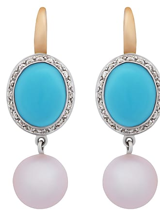 MIMI MILANO Turquoise Pearl Diamond Earrings