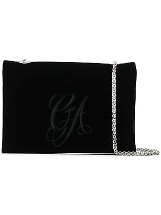 b5dd4a66c4fe Giorgio Armani embroidered velvet chain bag - Black