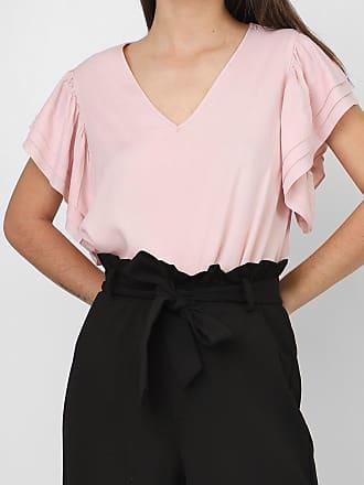 Vero Moda Blusa Vero Moda Drapeados Rosa