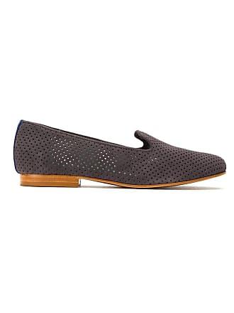 Blue Bird Shoes Loafer de camurça perfurado - Cinza