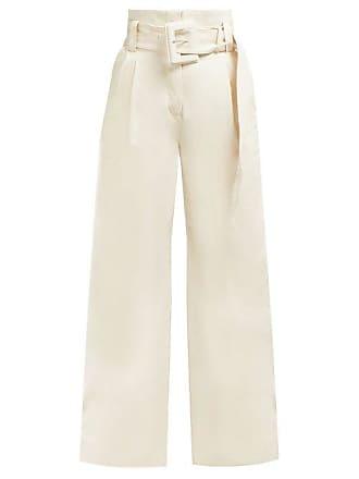 Proenza Schouler High Rise Wide Leg Jeans - Womens - Ivory