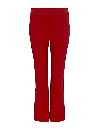 Derek Lam Tuxedo Piping Side Cropped Flare Pants Red