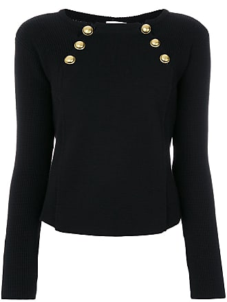 Red Valentino bolted boat neck sweater - Black