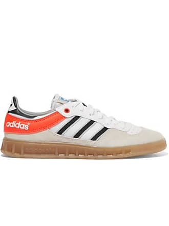 official photos f6bc0 46fab adidas Originals Handball Top Suede, Leather And Mesh Sneakers - Beige