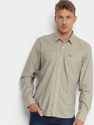 Lacoste Camisa Xadrez Lacoste Manga Longa Masculina - Masculino 7a422f6d7f