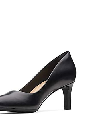 7de3e8c537324 Clarks Womens Calla Rose Pump, Black Leather, 100 M US