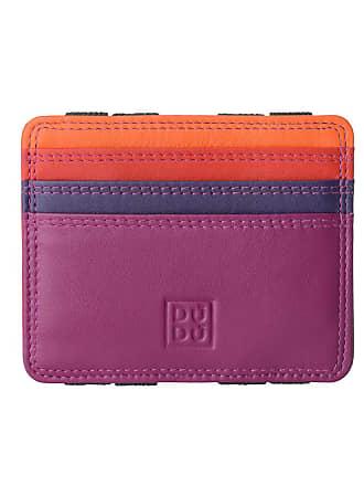 5f0ebc65f2a DuDu Portefeuille Magique pour homme en Cuir Nappa Magic Wallet coloré  Multicolore avec 6 fentes pour