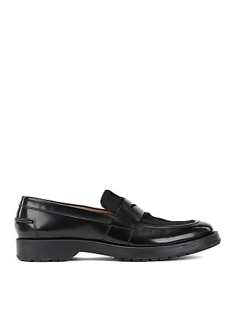 BOSS Patent leather loafers with contrast calf-hair vamp