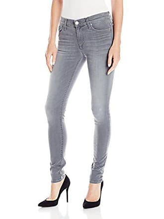 ceefadf0378 Hudson Jeans Womens Nico Midrise Super Skinny Gray Wash 5 Pocket Jean