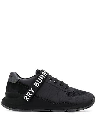 Burberry logo strap sneakers - Black