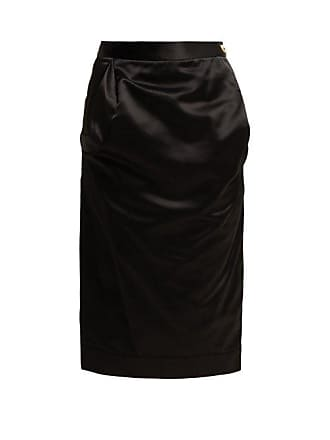 c4d9a73b9f Vivienne Westwood Gathered Satin Pencil Skirt - Womens - Black