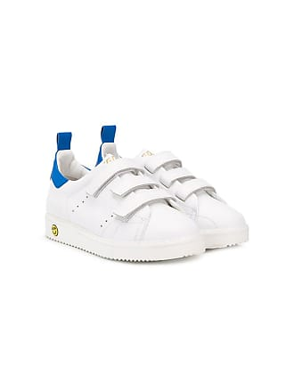 Golden Goose kids touch strap sneakers - Branco