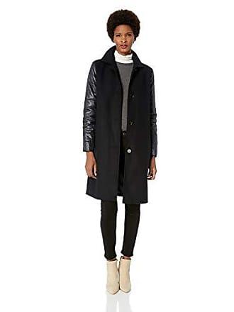 Jones New York Womens Long Wool Coat, Navy, 4