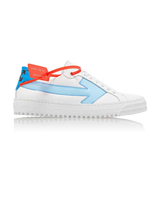 Off-white Arrow PVC-Trimmed Leather Sneakers