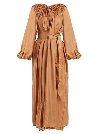 Kalita Andromeda Silk Maxi Dress - Womens - Amber