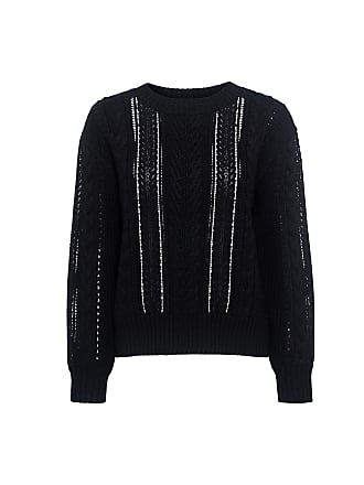 Sea New York Lace Cable Knit Sweater Black