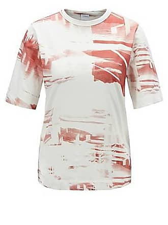 5a44b8ebb BOSS Relaxed-fit T-shirt in washed cotton with collection print