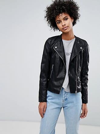 716fb96c70 Vero Moda faux leather biker jacket - Black