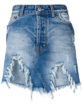 Forte Couture destroyed denim skirt - Azul