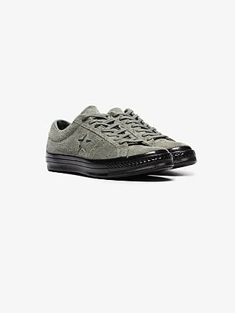 cda8ede6c432 Converse green one star ox suede leather sneakers