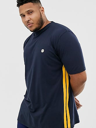 Le Breve Plus - T-shirt con righe laterali-Navy