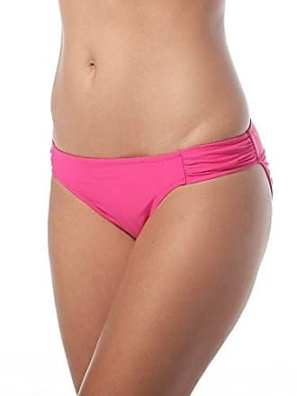 2868d2a8b7 Jessica Simpson Womens Ruched Side-Tab Hipster Bikini Bottom (Small,  Passion)