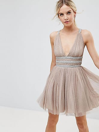 Asos Petite Tulle Strappy Embellished Mini Skater Dress 52eac67ea