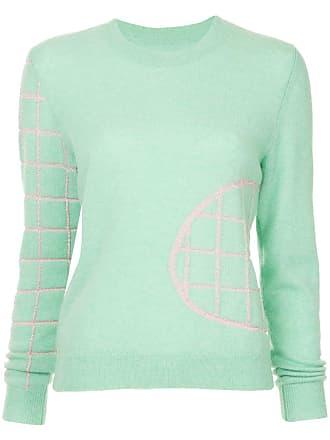 Onefifteen Suéter de cashmere com bordado - Verde