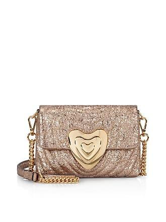 Escada Small Metallic Leather Heart Bag