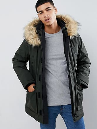 New Look traditional parka jacket in khaki - Green