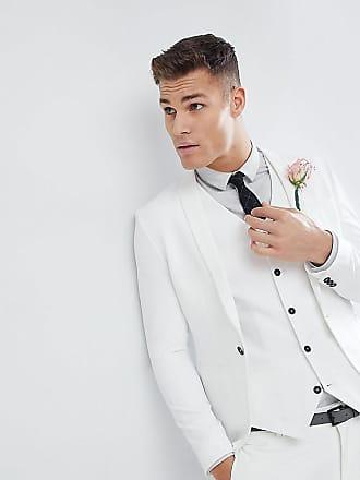Noak Chaqueta de traje de boda de corte ajustado en crema de Noak fed22b4312d