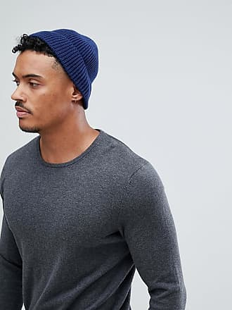 a9bb6101a57 Asos fisherman beanie in navy recycled polyester