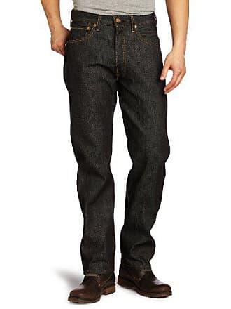 Levi's Mens 501 Shrink To Fit Jean, Black STF, 46x30