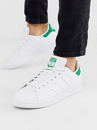 Adidas Jeans Leather Trainers WhiteGreen