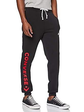 db023189360045 Converse Herren Star Chevron Graphic Jogger Sporthose, Schwarz Black 001,  W31(Herstellergröße:
