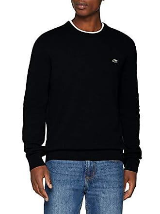 4274a87c92 Lacoste AH0841 Pull, (Noir/Passion-Farine ASV), Small (Taille