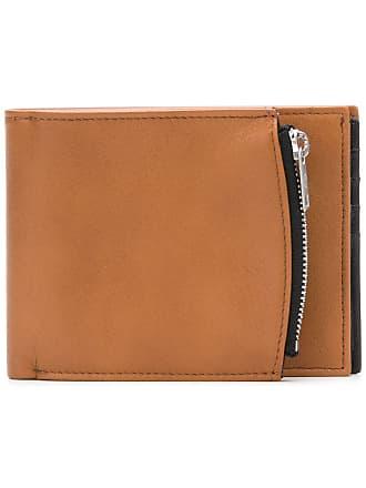Maison Margiela side-zip bi-fold wallet - Brown