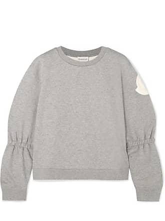 830b14cfba114d Moncler Appliquéd Cotton-blend Jersey Sweatshirt - Gray