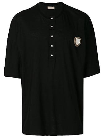 Ih Nom Uh Nit Camiseta com botões na gola - Preto