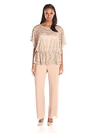 185ce8a883 Le Bos Womens Metallic Lace Blouson Pant Set