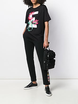 Escada Sport embroidered track pants - A001 Black